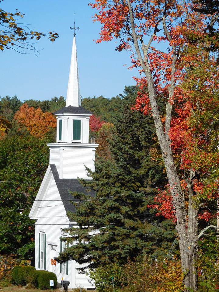 Ossipee NH church in the autumn