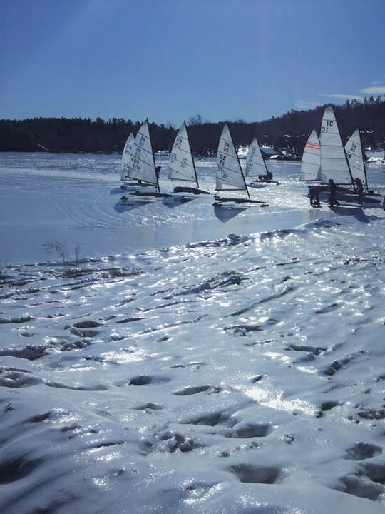 Ice Sailing Lake Winnipesaukee NH - Ice Boat Sailing Lakes